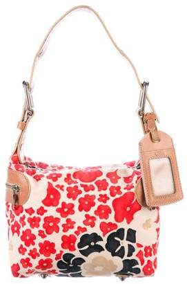 Chloé Leather-Trimmed Printed Canvas Shoulder Bag
