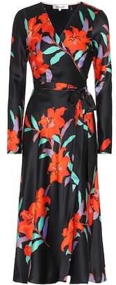 Diane von Furstenberg Printed silk-satin dress