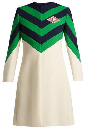 Gucci Chevron Stripe Wool Coat - Womens - White Multi