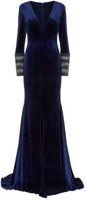 Jovani Embellished Cuff Velvet Gown