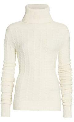 Jacquemus Women's La Maille Sofia Alpaca & Wool Stretch Turtleneck Sweater