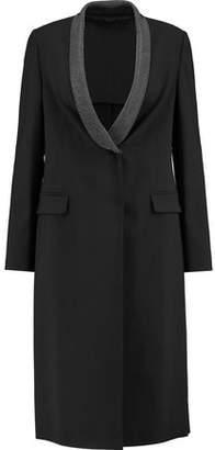Brunello Cucinelli Chain-Trimmed Wool-Blend Crepe Coat