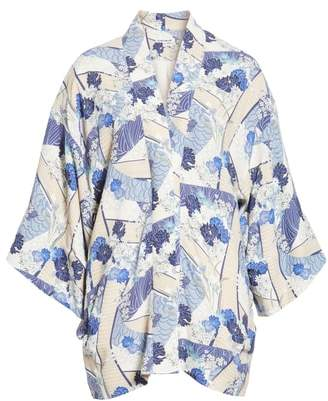 Elizabeth and James Drew Floral Print Kimono Jacket