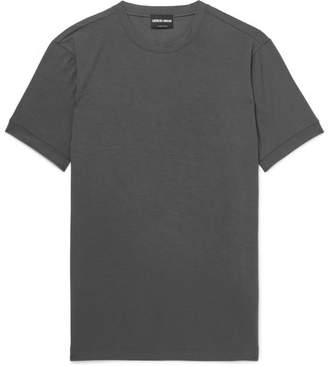 Giorgio Armani Slim-Fit Stretch-Jersey T-Shirt - Gray