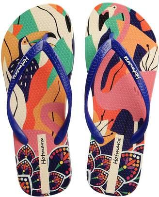 b524d0e4f600 Hotmarzz Women s Flamingo Print Summer Colorful Beach Slippers Flip Flops  Sandals