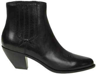 Golden Goose sunset Black Leather Ankle Boots