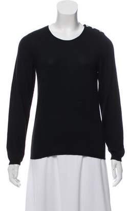 Oscar de la Renta Long Sleeve Scoop Neck Sweater