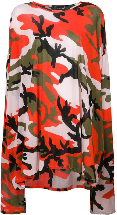 Barbara Bologna camouflage print T-shirt dress