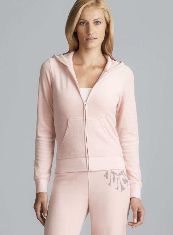Juicy Couture Back Sparkle Logo Hoodie