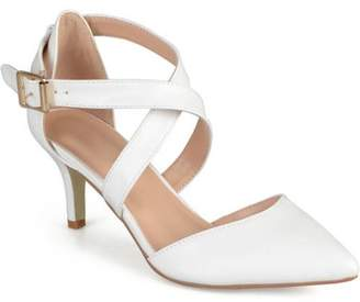 Co Brinley Women's Matte Pointed Toe Ankle Strap Pumps