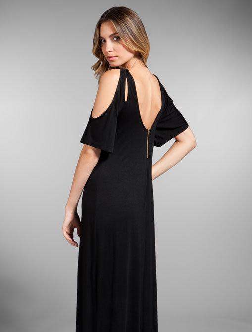 Donna Mizani Slit Sleeve Maxi Dress