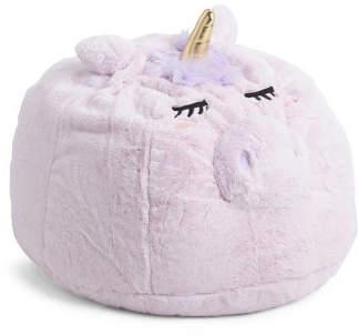 30in Plush Unicorn Bean Bag Chair