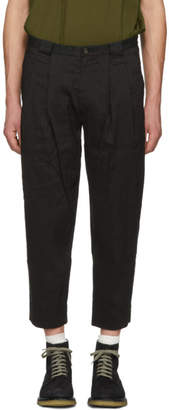 Ziggy Chen Black Cropped Trousers