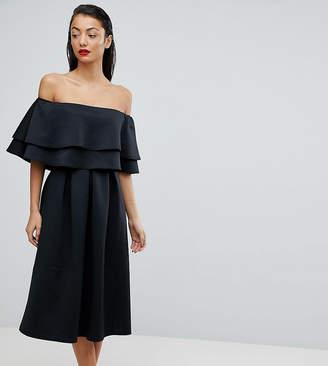 Asos Tall TALL Ruffle Off Shoulder Midi Dress