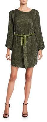 retrofete Grace Sequin Tie-Waist Dress
