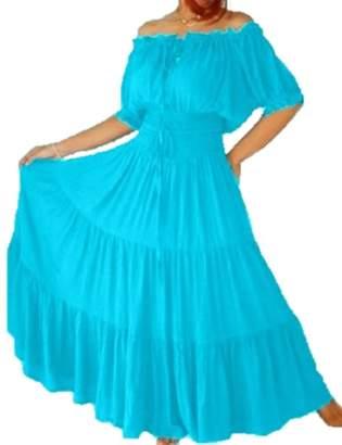 Lotustraders Mexican Peasant Ruffled Dress A7581
