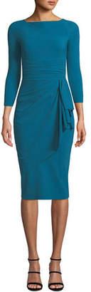 Chiara Boni Annikette Body-Con Dress w/ Draped Skirt