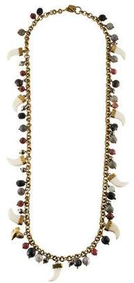 Ashley Pittman Multistone Charm & Horn Necklace