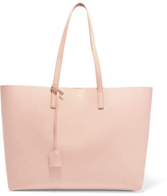 Saint Laurent Shopper Large Textured-leather Tote - Blush