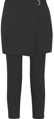 DKNY - Cropped Cotton And Wool-blend Gabardine Pants - Black $465 thestylecure.com
