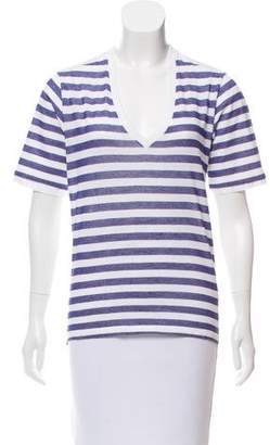 DSQUARED2 Striped Short Sleeve Top