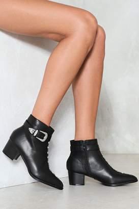 Nasty Gal Back in Black Studded Heel