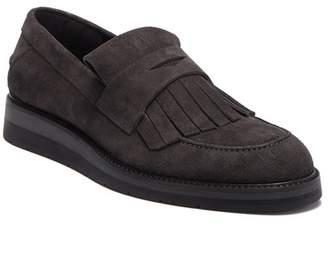 Vince Pollock Kiltie Fringe Leather Loafer