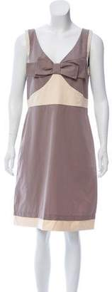 See by Chloe Bow-Accented Knee-Length Dress