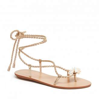 Loeffler Randall Shelly Wrap Sandal With Shells