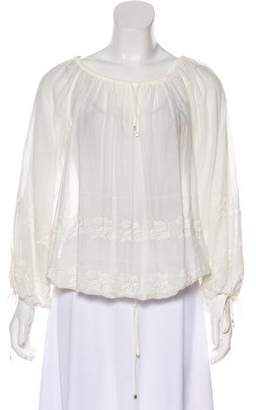 Chanel Embroidered Long Sleeve Blouse