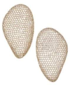 Adriana Orsini Large Button Crystal Pave Earrings