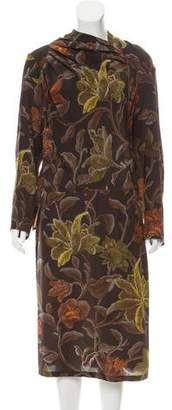 Dries Van Noten Silk Cutout Midi Dress w/ Tags