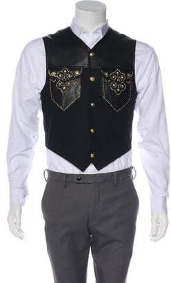 Gianni Versace Embellished Leather Vest