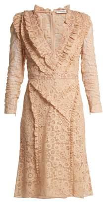 Altuzarra Ourika Valencienne Lace Dress - Womens - Beige