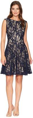 Gabby Skye Lace Seam Down Fit and Flare Dress Women's Dress