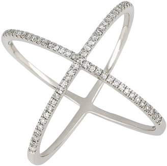 Carriere JEWELRY Wide Crossover Diamond Ring
