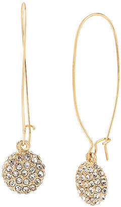 WORTHINGTON Worthington Gold-Tone Crystal Pave Earrings