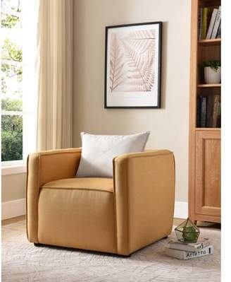 Furniture of America Tureo Yellow Accent Chair
