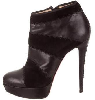 616bed7a05e Christian Louboutin Leather Platform Boots - ShopStyle