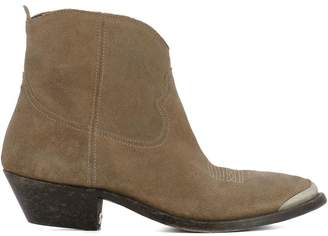 Golden Goose Brown Suede Ankle Boots