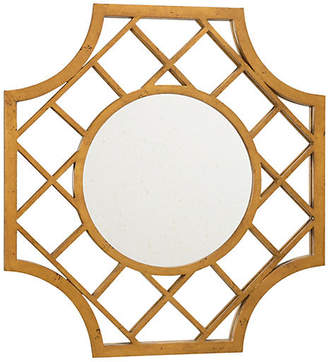 """Chelsea House Lattice 30""""x32"""" Wall Mirror - Antiqued Gold"""