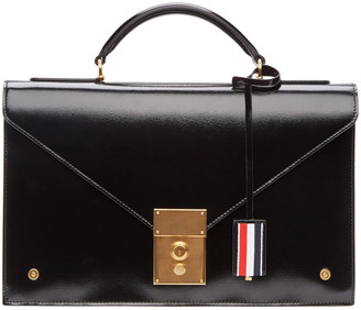 Thom Browne Black Briefcase Bag $2,690 thestylecure.com