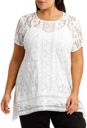 Lace Top High Low with Cami