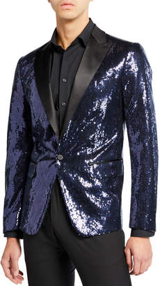 DSQUARED2 Men's Sequin Peak London Jacket