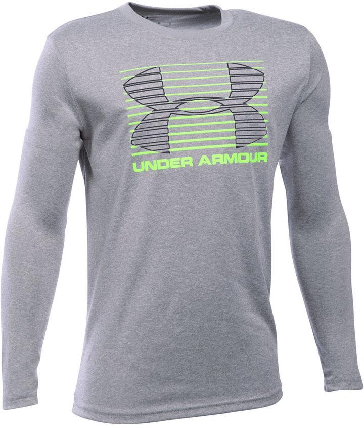 Under Armour Boys' Breakthrough Logo Long Sleeve T-Shirt