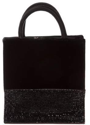 Donna Karan Embellished Velvet Mini Tote