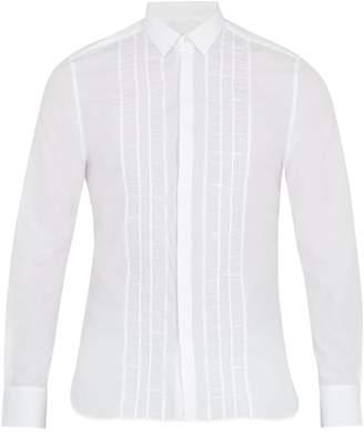 Lanvin Gathered-panel single-cuff cotton shirt