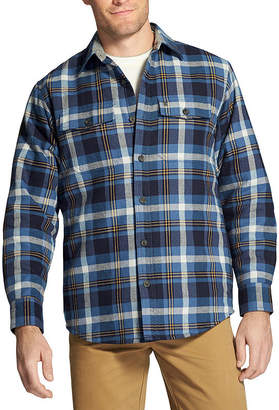 Izod Long Sleeve Button-Front Shirt-Fitted