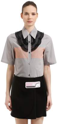 Prada Organza & Cotton Poplin Shirt