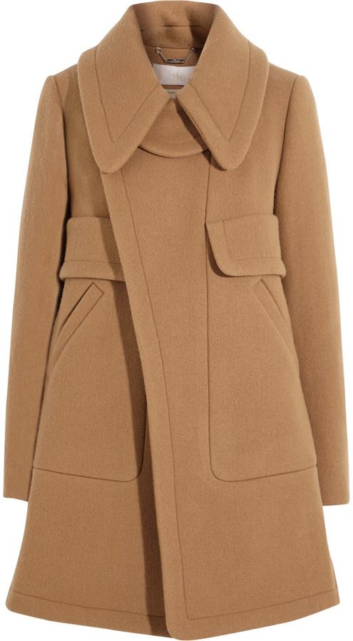 Chloé Chloé Wool-blend felt coat